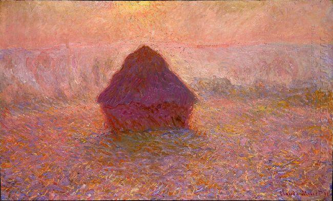 Haystacks Sun In The Mist