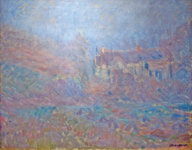 Houses At Falaise In The Fog