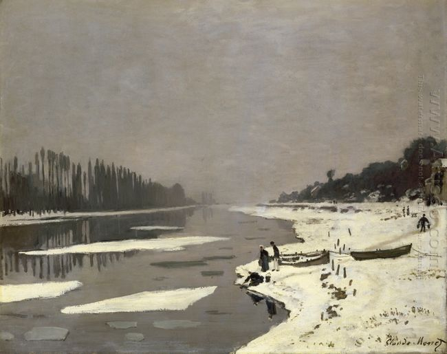 Ice Floes On The Seine At Bougival 1868