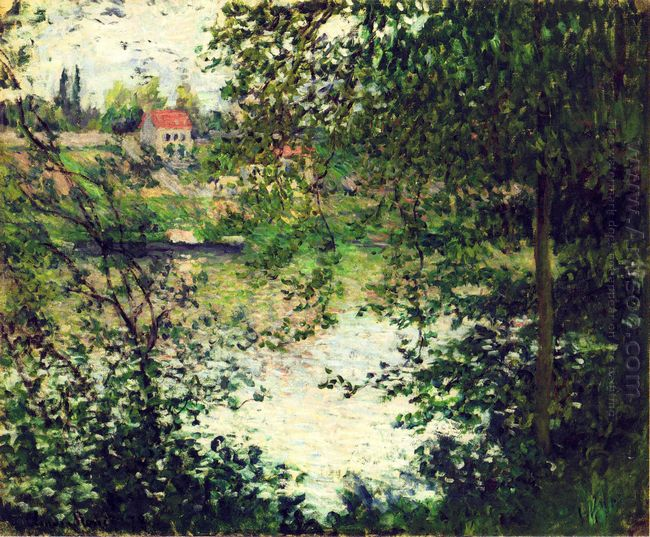 Ile De La Grande Jatte Through The Trees 1878