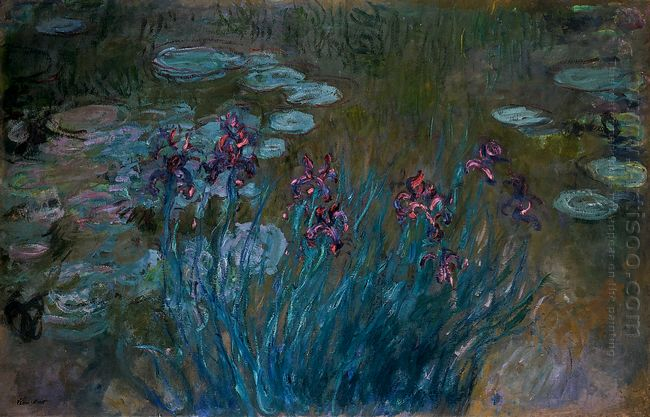 Irises And Water Lilies 1917