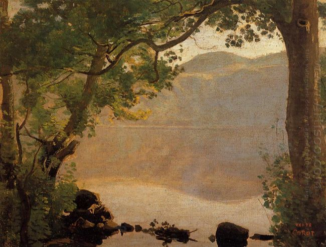 Lake Nemi Seen Through Trees 1843