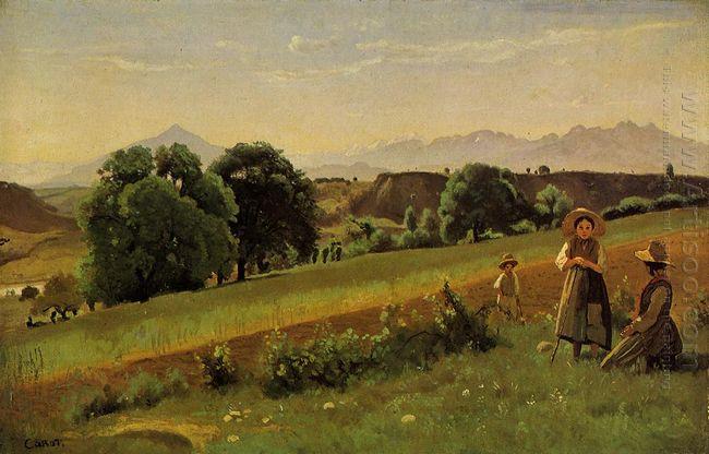 Landscape At Mornex Haute Savoie 1842