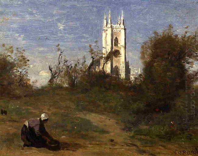 Landscape With A White Tower Souvenir Of Crecy