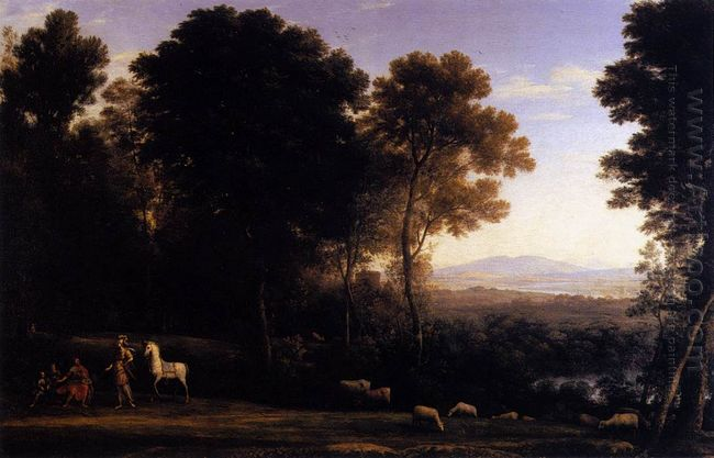 Landscape With Erminia In Discourse With The Old Man And His Son