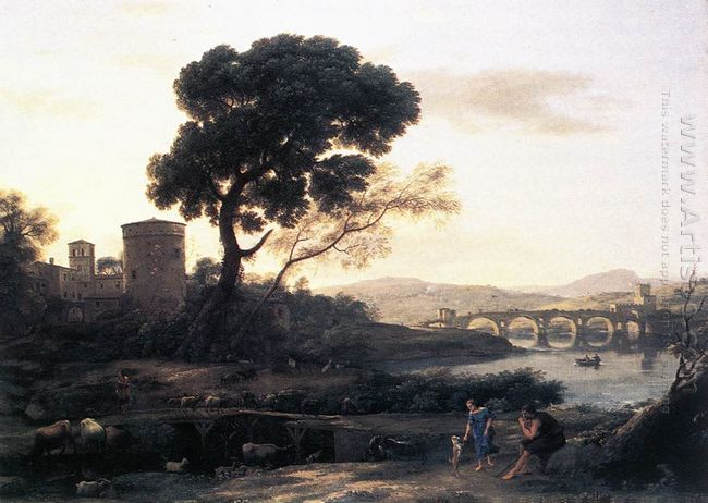 Landscape With Shepherds The Pont Molle 1645