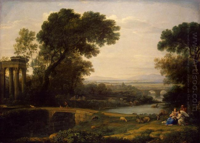 Landscape With The Rest On The Flight Into Egypt 1666