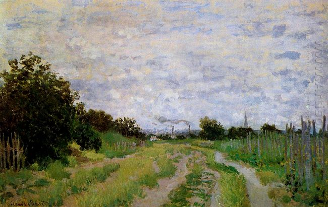 Lane In The Vineyards At Argenteuil