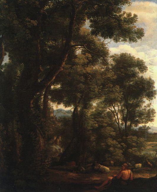 Lorrain Landscape With Goatherd 1636