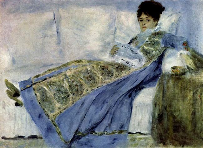 Madame Monet On The Divan
