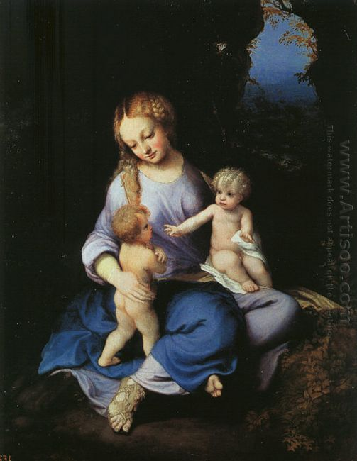 Madonna And Child With The Young Saint John 1516