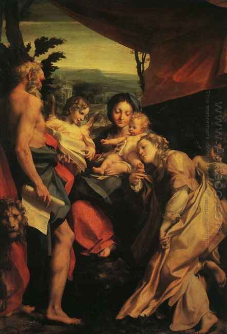 Madonna With St Jerome The Day