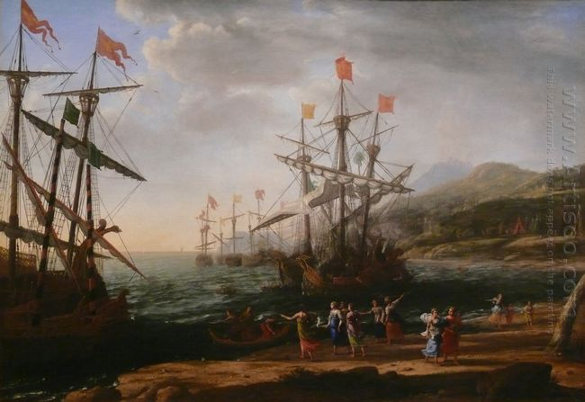 Marine With The Trojans Burning Their Boats 1642