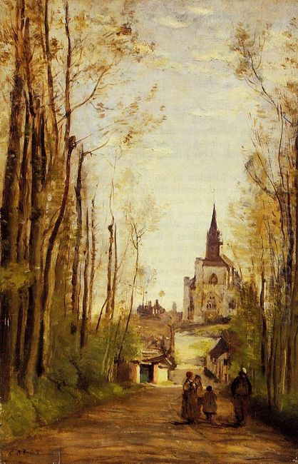 Marissal Path To The Front Of The Church 1866