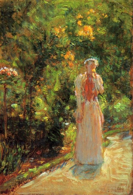 Mrs Hassam In The Garden