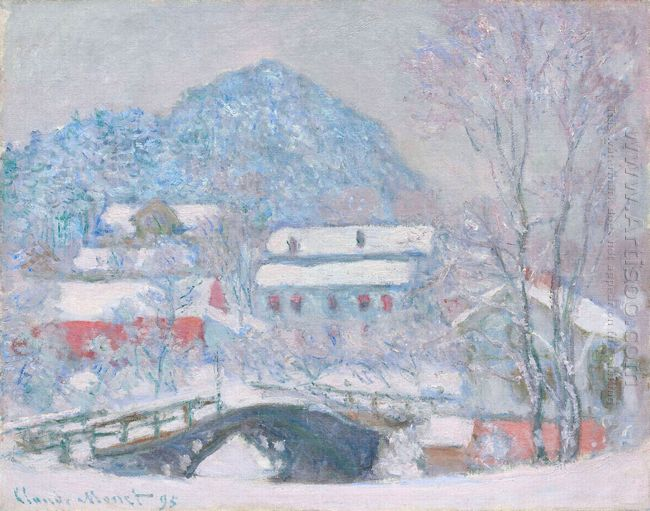 Norway Sandviken Village In The Snow