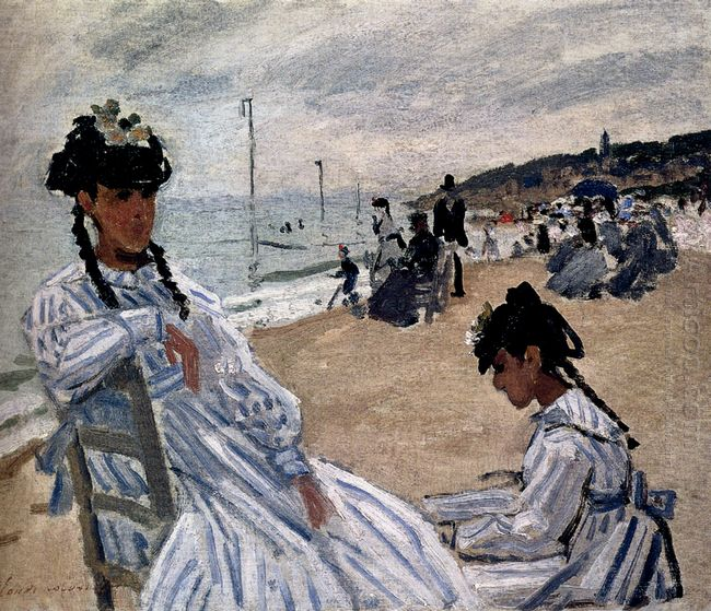 On The Beach At Trouville 1871