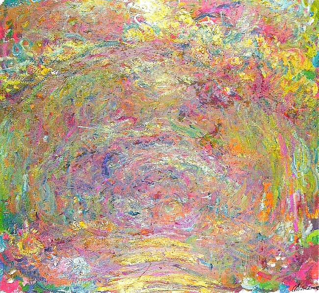 Path Under The Rose Trellises 1924