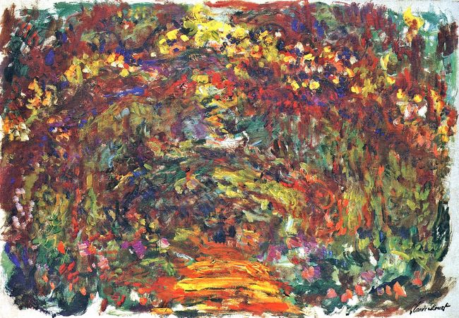 Path Under The Rose Trellises Giverny 1922 1