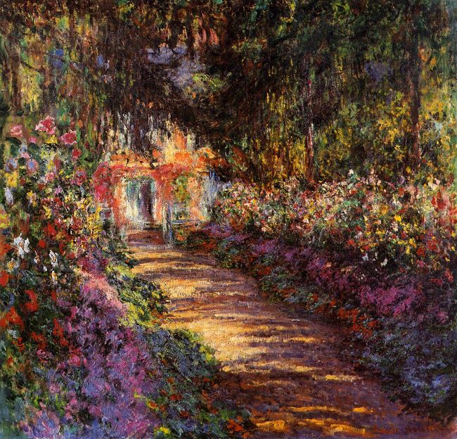 Pathway In Monet S Garden At Giverny 1902