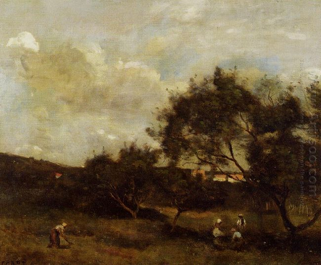 Peasants Near A Village