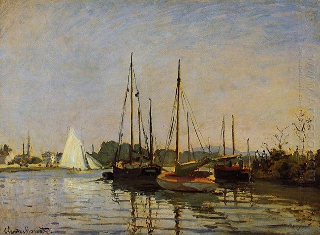 Pleasure Boats Argenteuil C 1872 3 Oil On Canvas