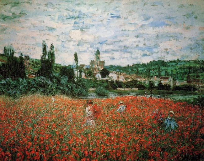 Poppy Field Near Vetheuil