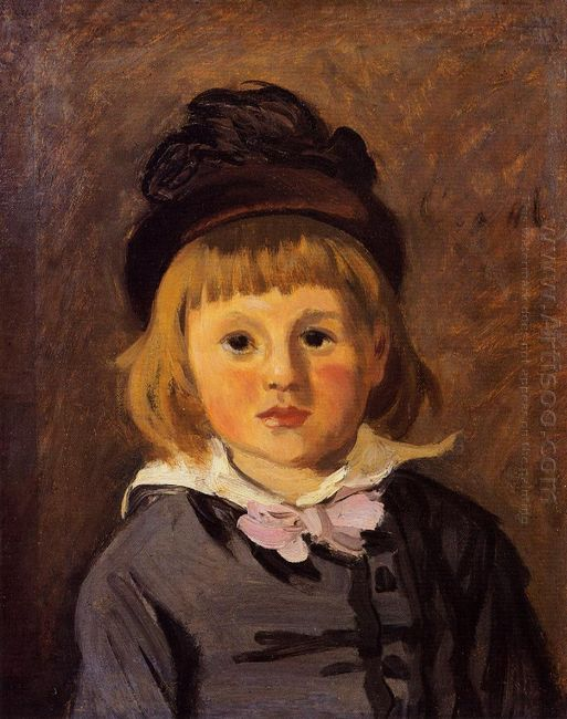 Portrait Of Jean Monet Wearing A Hat With A Pompom