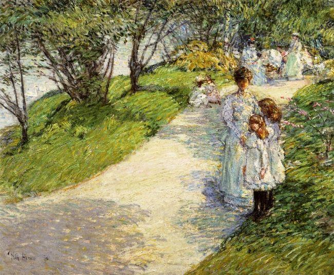 Promenaders In The Garden 1898