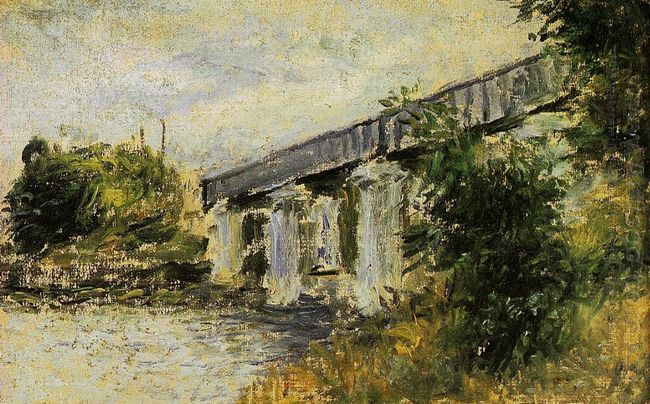 Railway Bridge At Argenteuil 1874