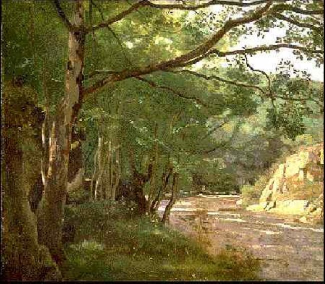 Ravine In The Morvan Near Lormes 1860