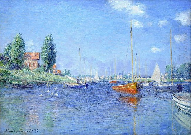 Barche Red Argenteuil 1875 olio su tela 1875