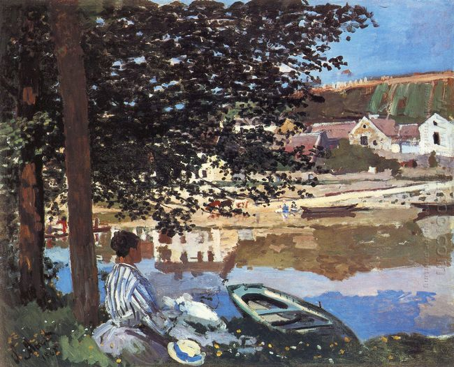 River Scene At Bennecourt