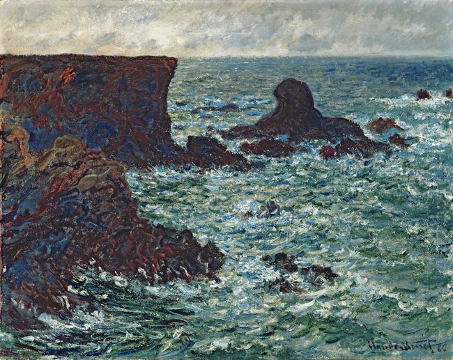 Rocks At Port Coton The Lion Rock 1886