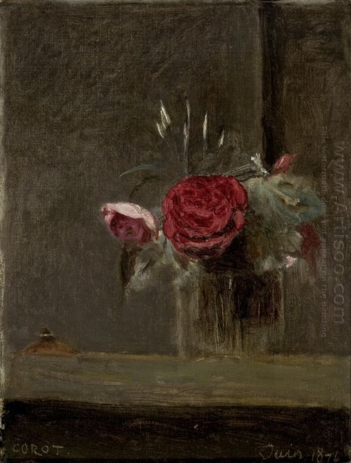 Roses In A Glass 1874