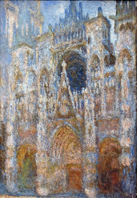 Rouen Cathedral Magic In Blue