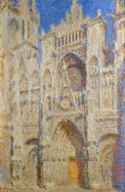 Rouen Cathedral Portal In The Sun