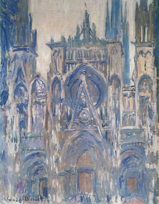 Rouen Cathedral Study Of The Portal