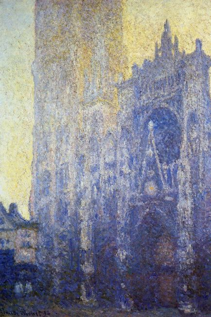 Rouen Cathedral The Portal Morning Effect