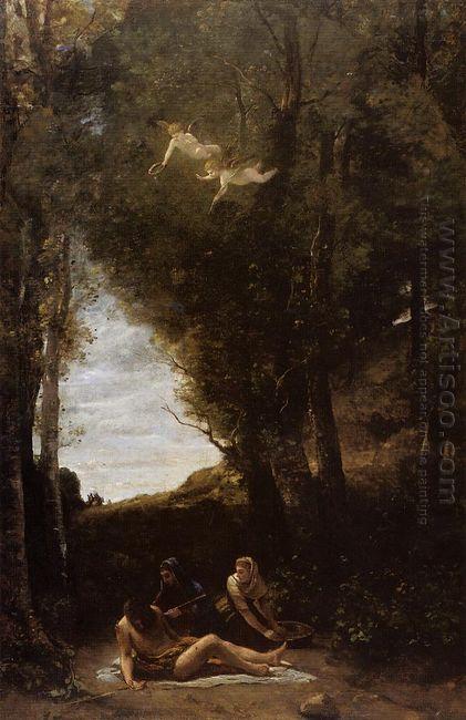 Saint Sebastian In A Landscape 1853