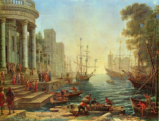 Seaport With The Embarkation Of St Ursula 1641