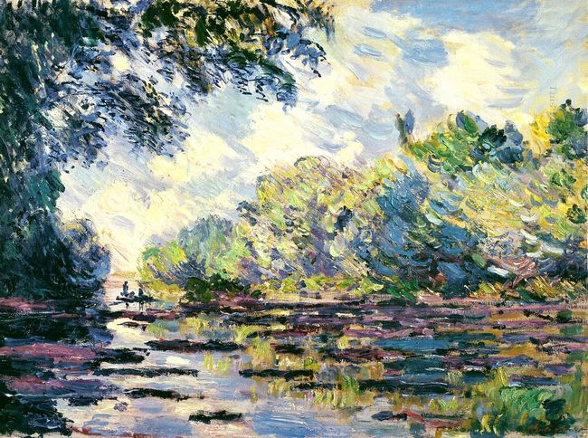 Section Of The Seine Near Giverny