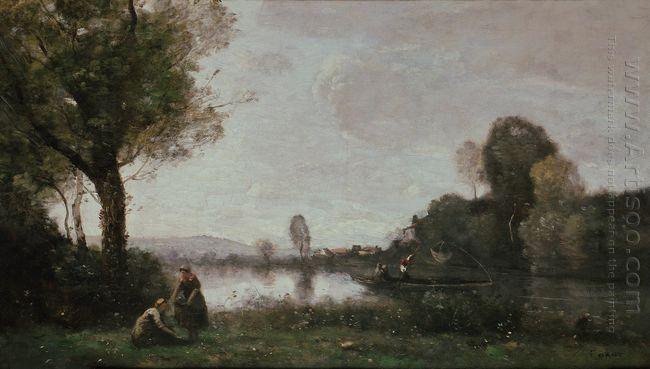 Seine Landscape Near Chatou 1855