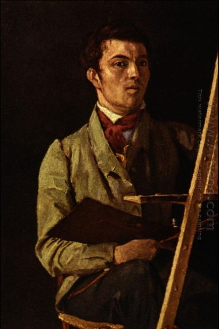 Self Portrait Sitting Next To An Easel 1825