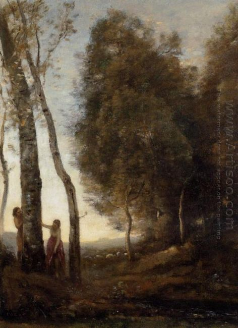 Shepherd And Shepherdess At Play