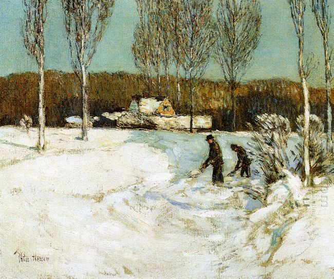 Shoveling Snow New England