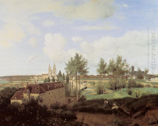 Soissons Seen From Mr Henry S Factory 1833