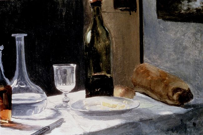 Still Life With Bottles 1863