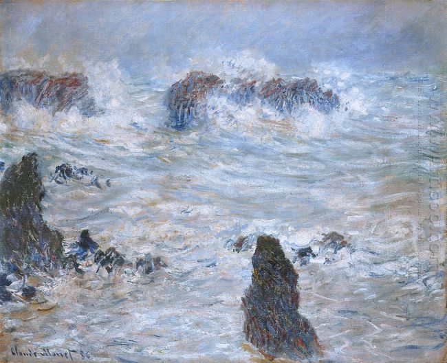 Storm Off The Coast Of Belle Ile 1886