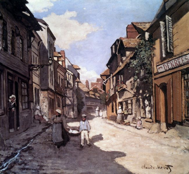 Street Of The Bavolle Honfleur